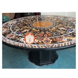 inlay dining top, center side table, customized table top, furniture decorative table, top black table, inlay marble top