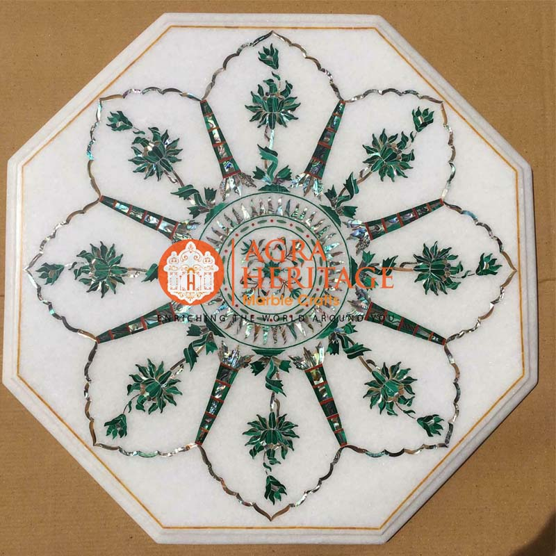 white marble table, white marble top prices, coffee table top, decorative coffee table, small coffee table, decorative inlay coffee table, stone inlay table, bedroom decor table, buy marble table, center side table, coffee table top