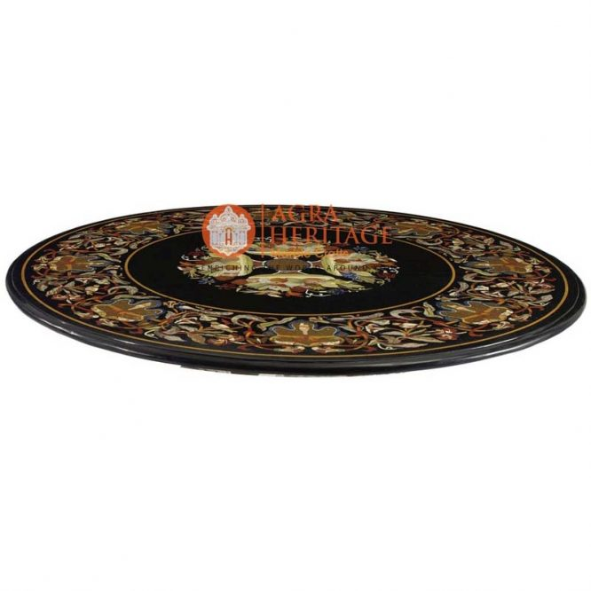 black dining table, black inlay table top, buy marble inlay table, center table top, decorative inlay dining table, dining stone table top, furniture decorative table, inlay top dining table, round dining inlay table, top dining inlay table,
