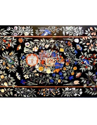 marble inlay table, side dining table, black table top, marble inlay table, furniture decorative table, dining table for home decor, table top for housewarming gift, hallway decorative table, marble center dining table,