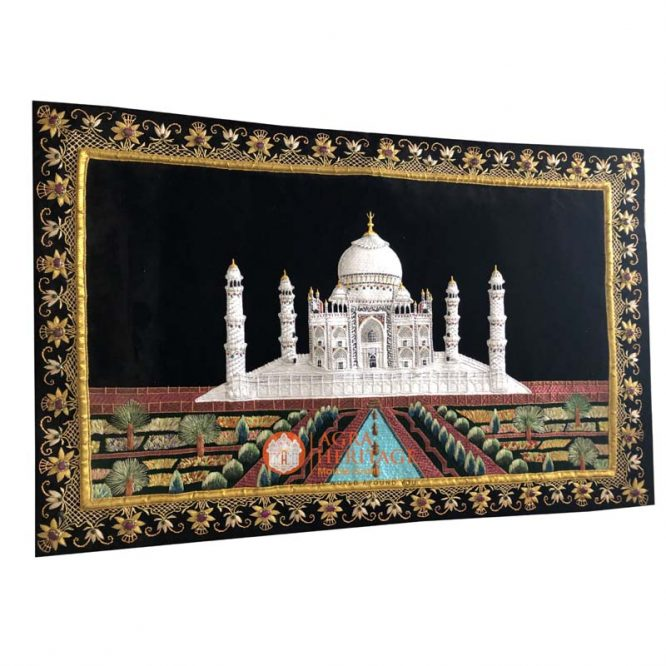 carpet at best price, handmade carpets, gold string design carpet, buy kashmiri carpet, decorative wall hanging