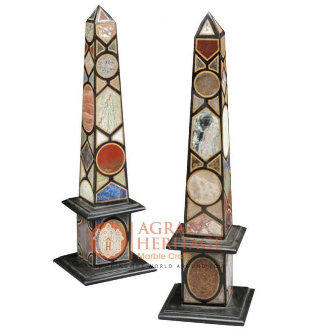 pair of marble obelisks, designer marble obelisks, marble obelisks, italian obelisks, marble obelisks for sale, decorative marble obelisks, marble obelisks statue, marble obelisks miniatures