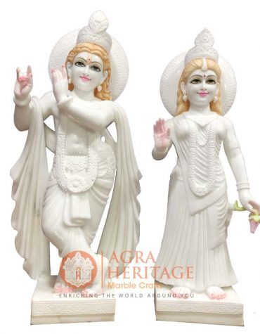 decorative radha krishna, rradha krishna sculpture, religious radha krishna statue, white marble radha krishna, religious gift, radha krishna statue for love gift, radha krishna online price