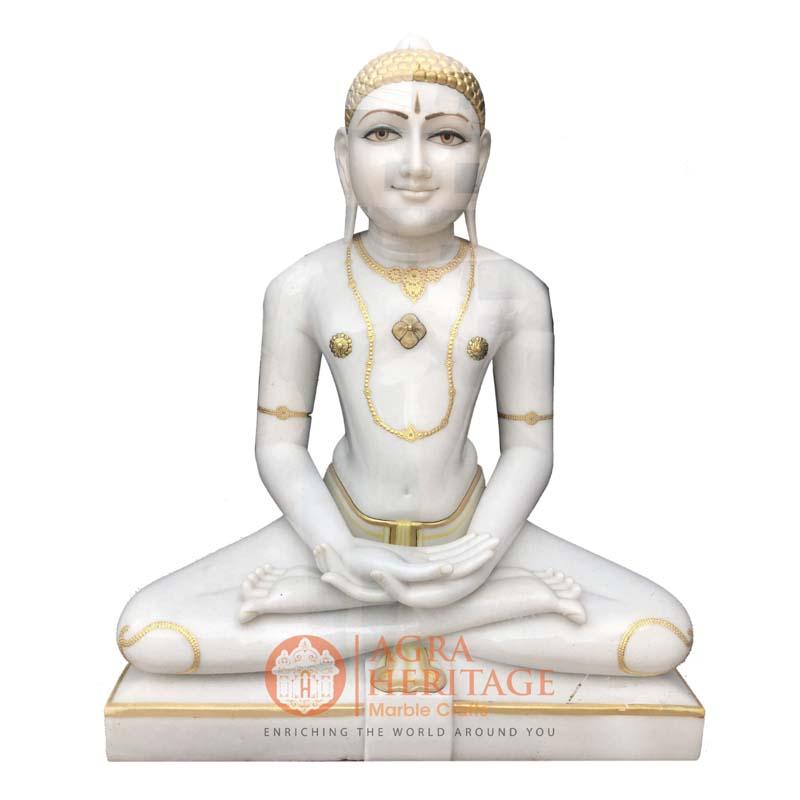 marble parshwanath, handmade parshwanath, idol parshwanath, parshwanath sculpture, religious statue, sitting parshwanath statue, temple decor