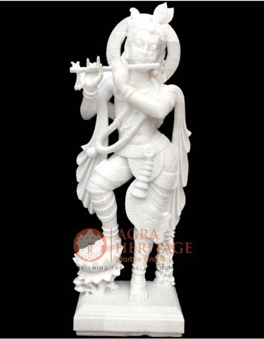 marble krishna, white marble statue, religious gift, idol krishna sculpture, handmade krishna statue, statue for home decor, home temple decor, idol statue for gift