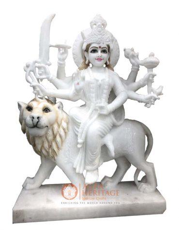 white marble durga murti,maa durga, marble devi maa statue, handmade durga ji, religious statue, handmade durga murti, marble sculpture, decorative statue, home decor statue, divine gift
