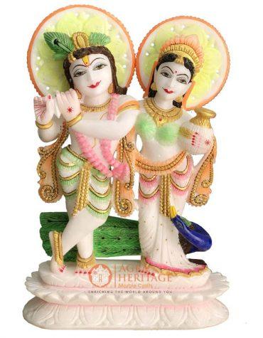 marble radha krishna, radha krishna statue, hand painted radha krishna statue, religious gift, decorative sculpture, hand painted statue