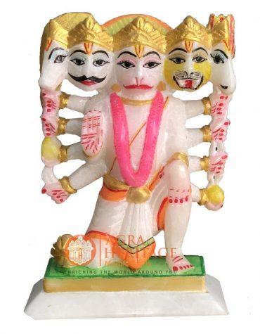 marble hanuman statue, decorative hanuman statue, hanuman figurine, hanuman sculpture, religious hanuman statue, home decor statue, temple decor,
