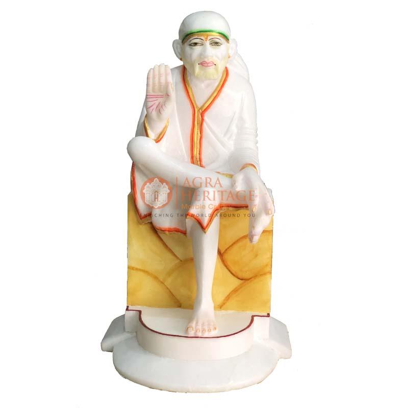 marble sai baba, religious gift, sai baba statue, decorative sai baba, decorative sai baba, sai baba sculpture,