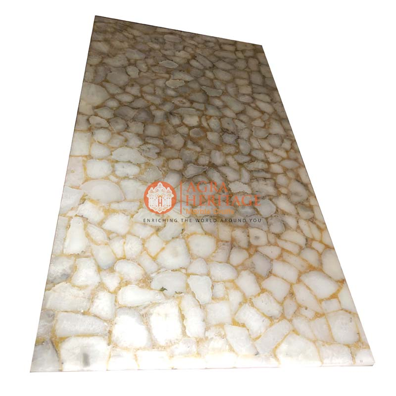 white agate table top, agate table top, agate living room table, agate