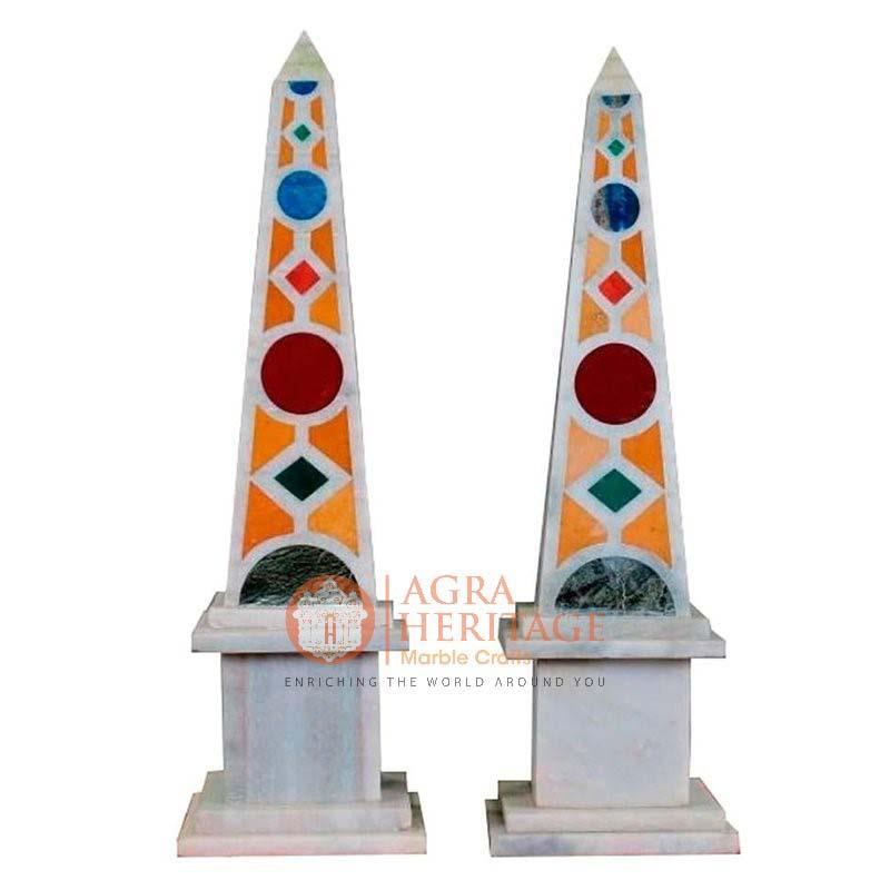 white marble obelisks, marble obelisks, decorative obelisks, marble obelisks for sale, designer marble obelisks, marble obelisks statue, marble obelisks miniatures, handmade obelisks