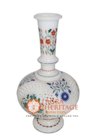 marble vase, white marble vase, inlay decorative vase, designer vase, stone marble inlay vase, vase for housewarming gift, home decor vase, stone marble vase, customized marble vase, handicraft vase