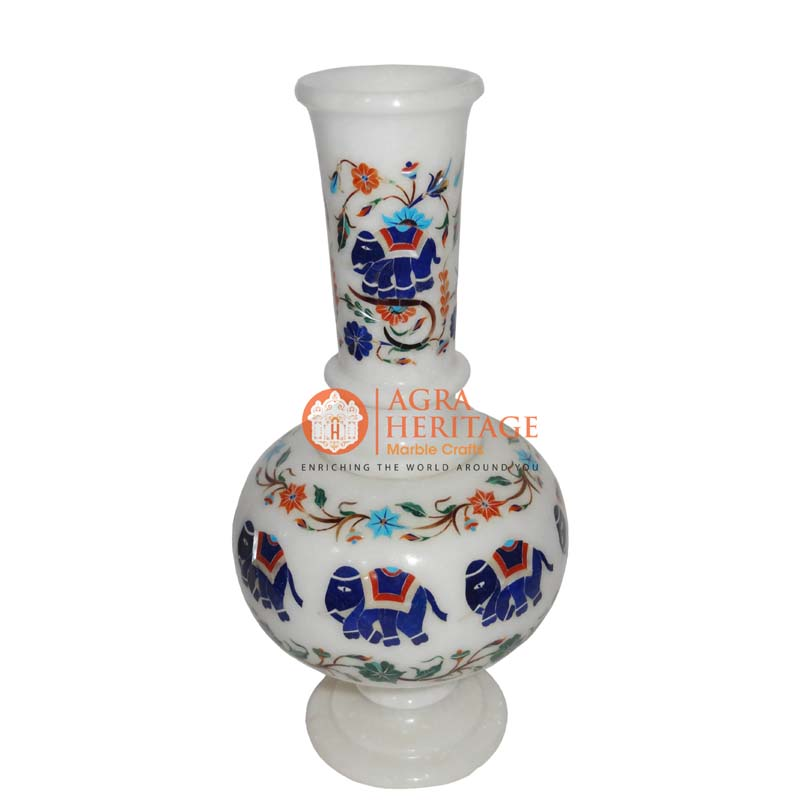 inlay decorative vase, designer vase, stone marble inlay vase, vase for housewarming gift, home decor vase, stone marble vase, customized marble vase, handicraft vase