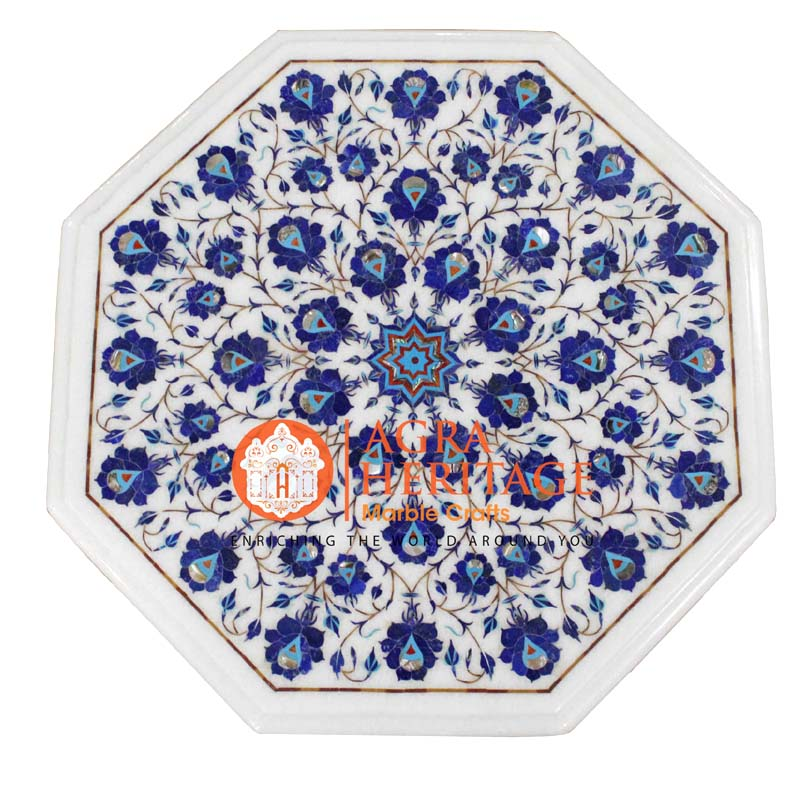 buy lapis lazuli stone table online, buy marble inlay table, center side table top, customized table, customized table, decorative coffee table, living room table, hallway dining table, table coffee table top, side table top, pietra dure table tops, white table top, customized table, handmade table top, living room table top, table top for housewarming gift,