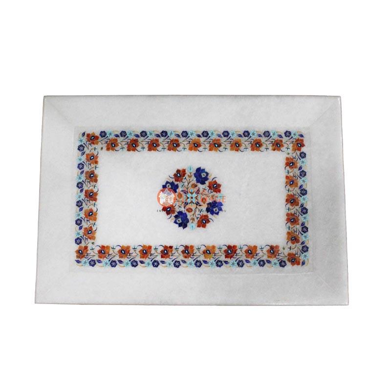 kitchen tray,: tray ,: marble tray , pietradura tray,: decorative tray ,home decor tray , kitchen dish, design tray , dining tray ,