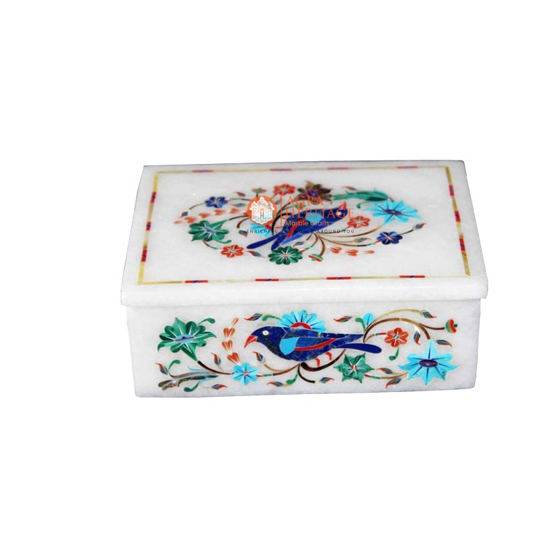 decorative box, designer inlay box ,inlay jewelry box , marble box, marble inlay box, marble jewelry box , marble storage box , white marble box