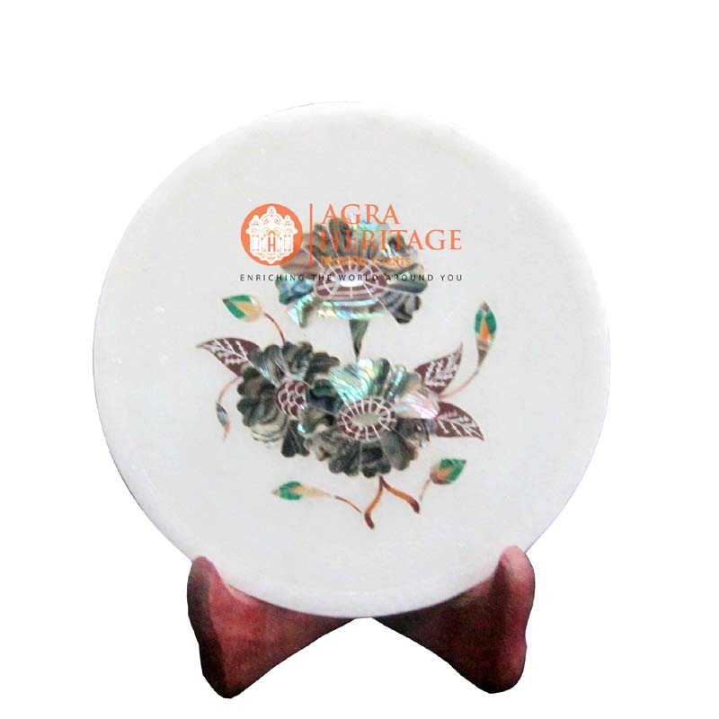 white marble plate,marble plate,decorative plate,dish plate,houswarming gift plate,dining plate,kitchen plate ,pauashell table plate, plat,interior plate