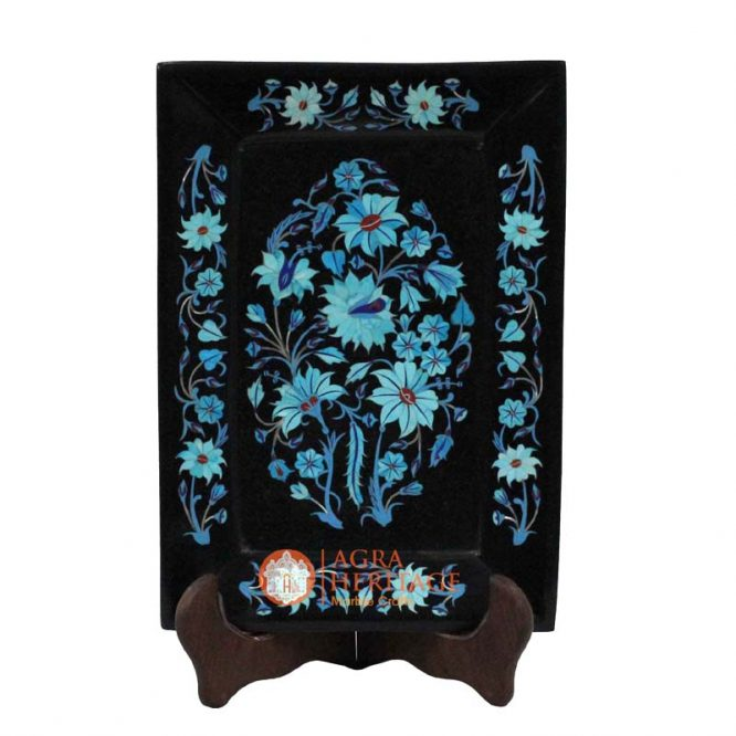 black marble tray,marble tray,decorative tray,dish tray,houswarming gift tray,dining tray,kitchen tray, turquoise table tray,interior tray,turquoise tray