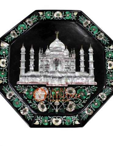 serving tray,kitchen tray,table tray,decorative tray,handmade tray,black marble tray,marble tray,collectible tray,home decor tray,taj mahal art tray,pietradura tray,