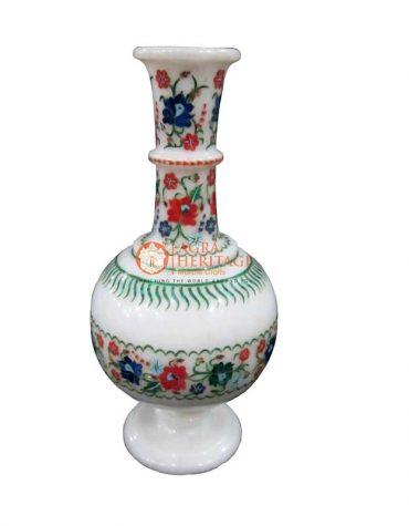 flower vase,marble vase,decorative flower vase,inlay stone vase,multi inlay stone vase,gift flower vase,customize vase,