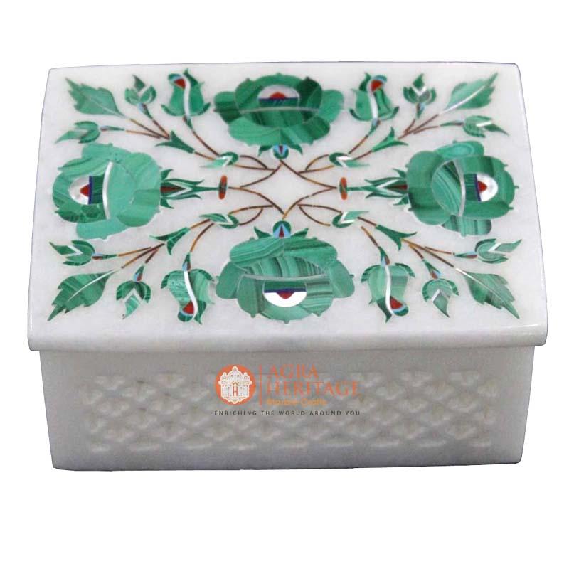 storage box, jewelry box, malachite box,decorative box ,inlay floral box,marble interior,decoration box,white marble box,
