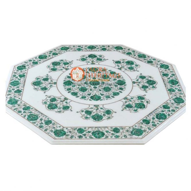 buy marble inlay table, coffee table, end table top, customized table top, center side table, decorative inlay table, corridor decor table top, customized table top, decorative inlay table, green malachite stone table, hallway table top, inlay marble table, corridor decor table top, marble center dining table, living room table top,
