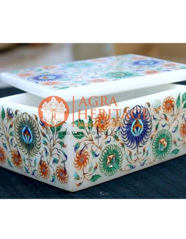 marble inlay box, marble jewelry box, marble storage box, decorative box, design box