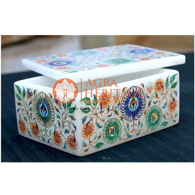 marble inlay box, marble jewelry box, marble storage box, decorative box, design box