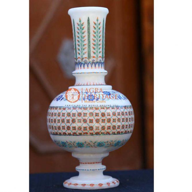 marble decorative vase, handicraft inlay vase, marble vase, inlay stone vase, marble flower pot, marble inlay vase decor, living room decorative vase, customized marble vase