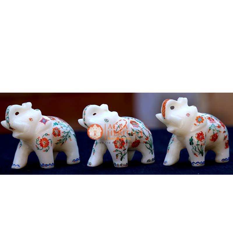 white marble elephant decor, marble elephant, elephant figurine, elephant sculpture, stone elephant, trunk up elephant, good luck elephant