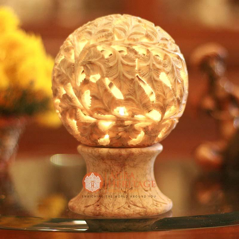 marble candle holder, candle holder, decorative candle holder, hallway decor holder, filigree candle holder