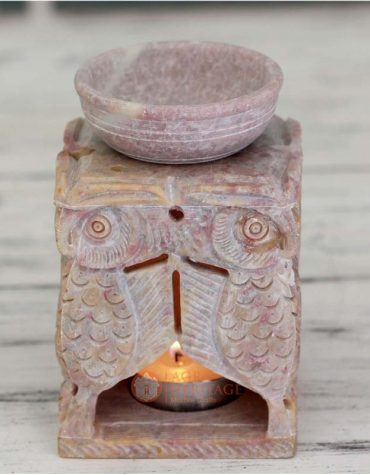 oil burner, marble oil burner, hand carved oil burner, home decor gift, living room decor, soapstone oil burner