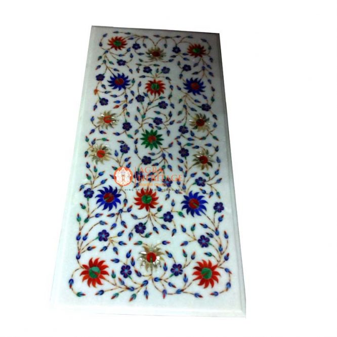 buy marble inlay table, center side table, center table top, coffee table top, corner table top, customized table top, decorative inlay coffee table, console stone table top, end table top, decorative table top, living dining table, inlaid floral stone table, living room dining table,