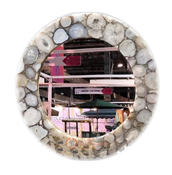agate mirror, wall decor mirror, agate round mirror, designer mirror, precious stone mirror, handicraft mirror
