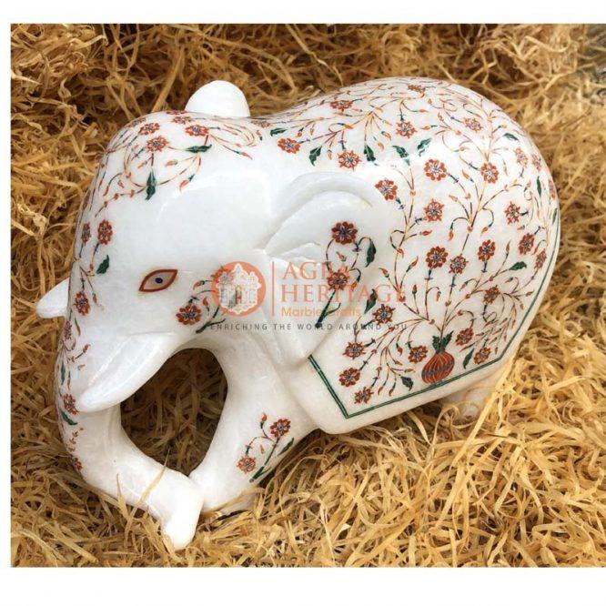 marble elephant, marble inlay elephant, marble indian elephant, marble made elephant, marble mosaic elephant, miniature marble elephant white marble elephant,