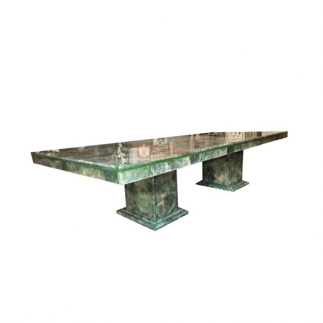 green fluorite table, rectangle dining table, center dining table, outdoor table top, handmade table top, living room table, furniture decor table