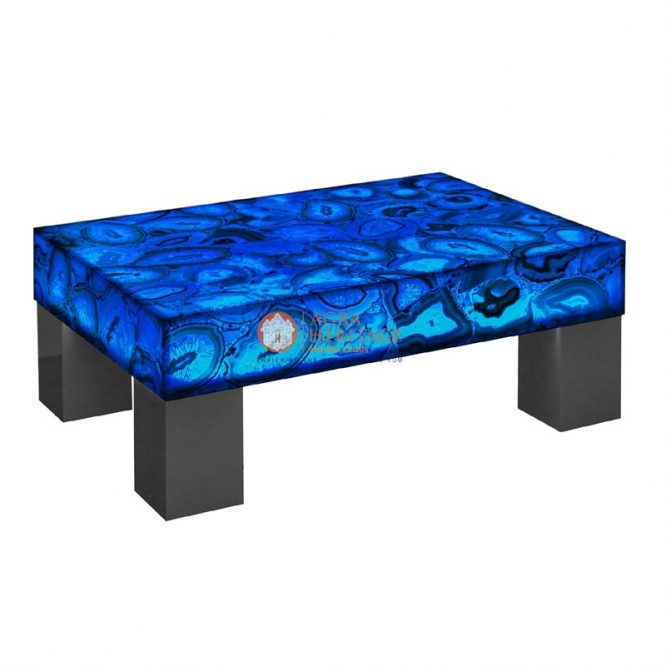 agate table top, blue agate dining table, center table top, custom agate table, living room table top