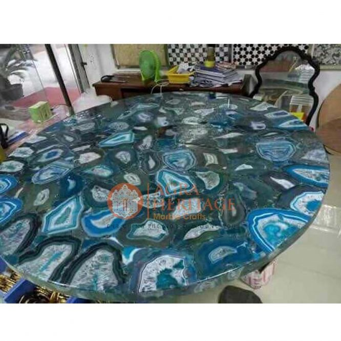 blue agate table top, agate table top, agate round table, agate hallway table, agate furniture, agate furniture, agate center living decor